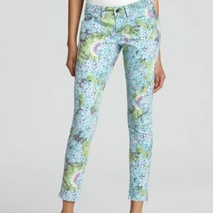 Guess Brittney Ankle Skinny Floral-Print Jeans